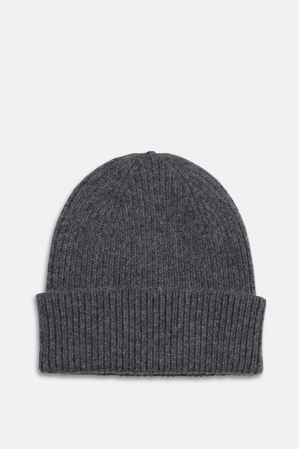 ReMade Wool Beanie Hat in Lava Grey