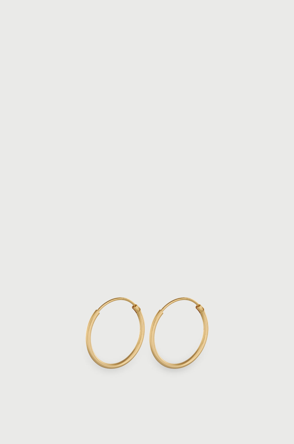 Micro Plain Gold Hoop Earrings