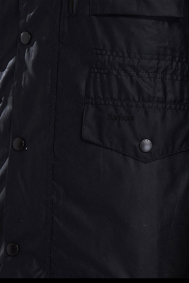 Sapper Wax Jacket in Black