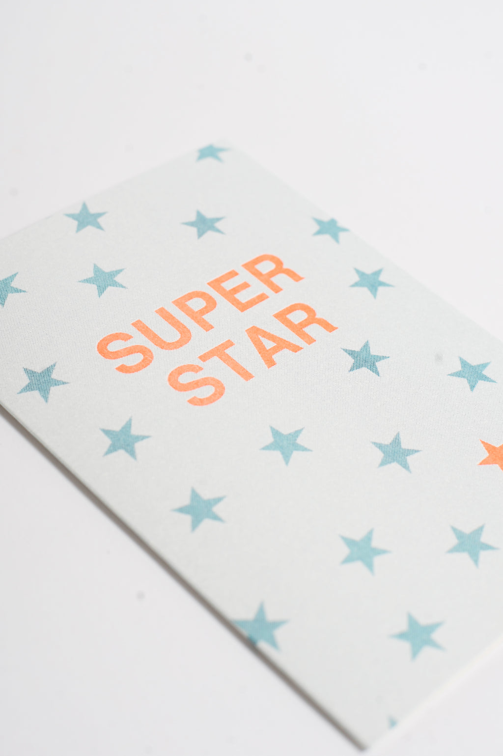 Superstar Teal Riso Card