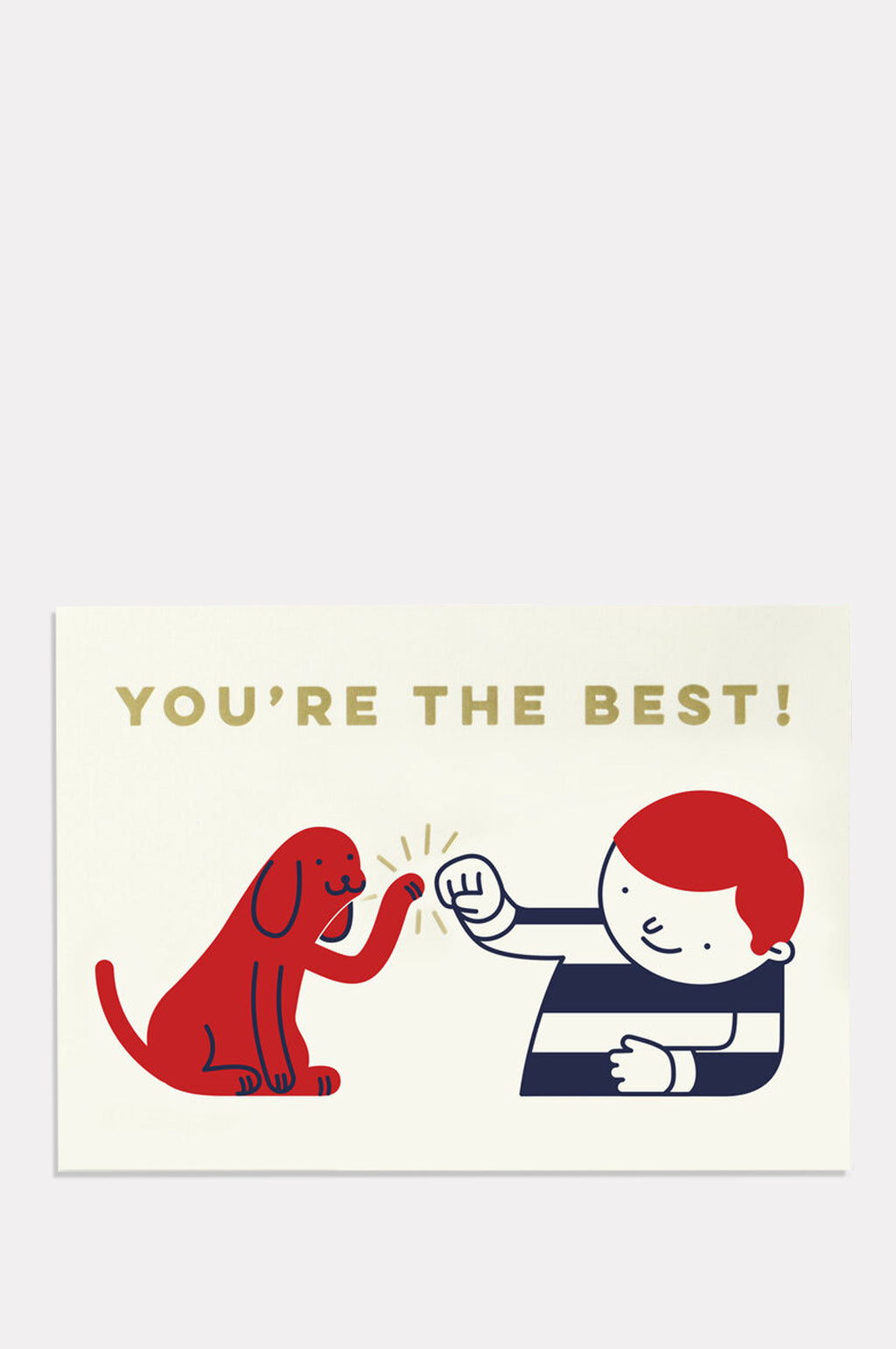 Youre The Best! Red/Blue	Card