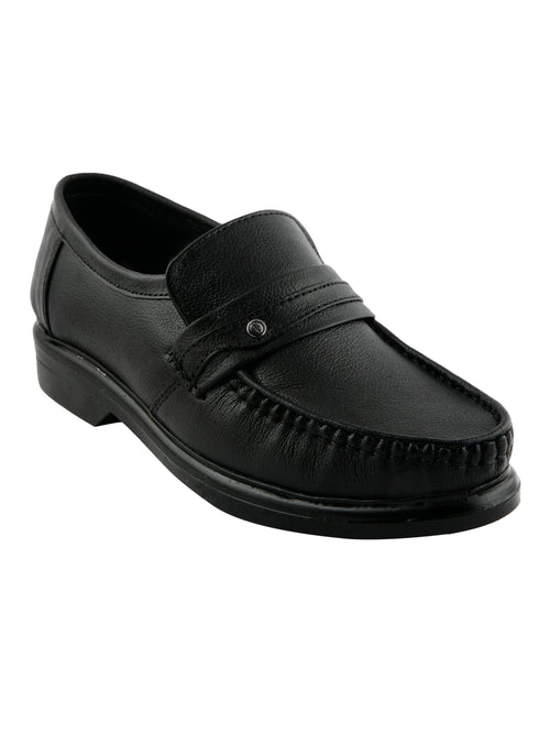 Eego Italy Black Genuine Leather Men's Formal Shoes