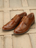 Eego Italy Tan Men's Formal Wing Tip Brogue