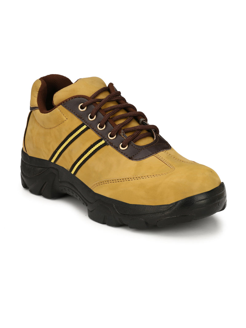 Eego Italy Tan Safety Lace Up Steel Toe