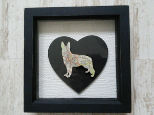 Box Frame Dog Silhouette - Medium