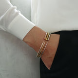 Yellow Gold Vermeil Slim Tusk Bangle