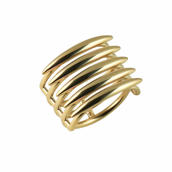 Silver and Gold Vermeil Quill Ring