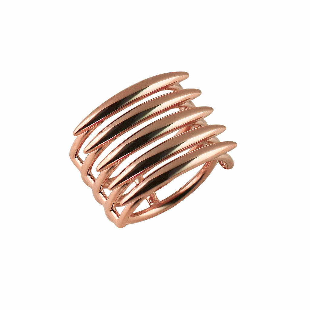 Rose Gold Vermeil Quill Ring
