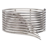 18ct White Gold Diamond Armis Bar Cuff