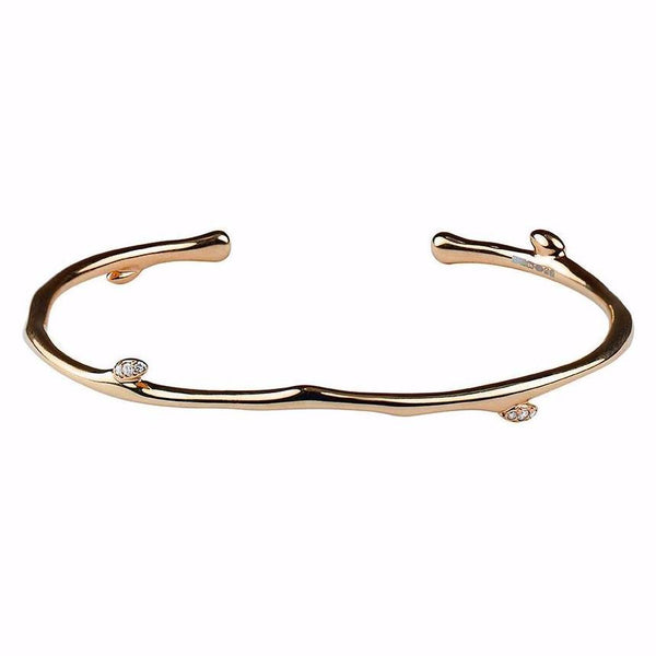 Rose Gold Vermeil Cherry Blossom Diamond Bangle