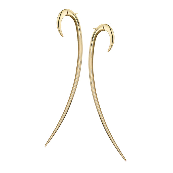 Yellow Gold Vermeil Statement Hook Earrings