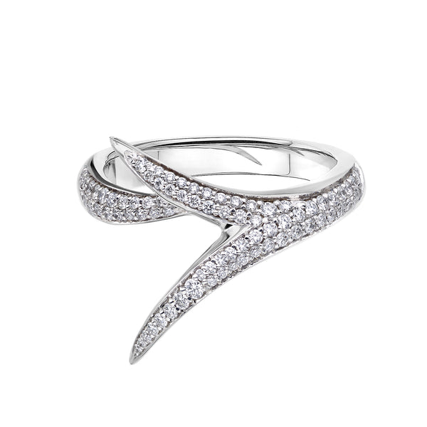 18ct White Gold And Diamond Embrace Ring