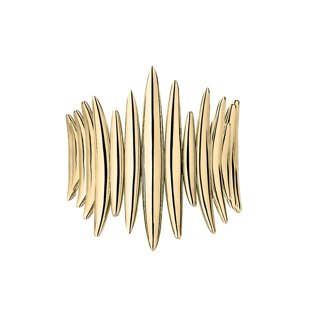 Yellow Gold Vermeil Quill Wrap Ring