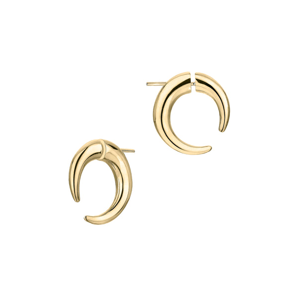 Yellow Gold Vermeil Small Hoop Talon Earrings
