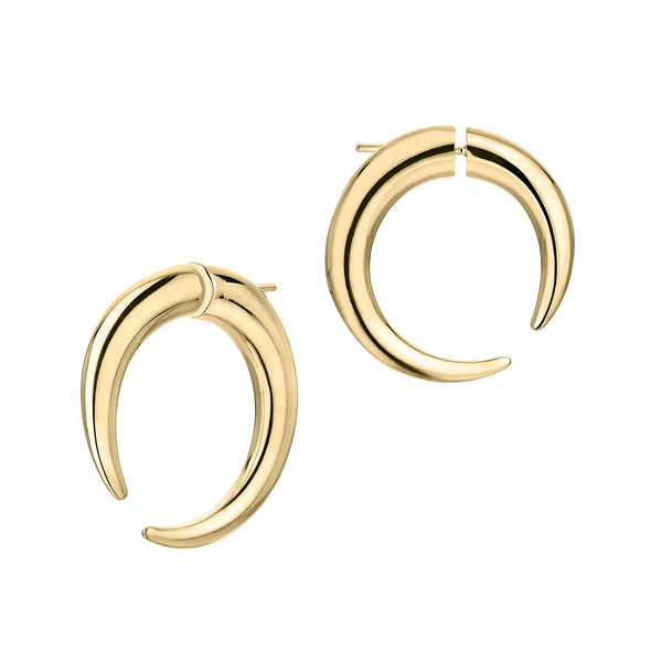 Yellow Gold Vermeil Quill Large Hoop Earrings