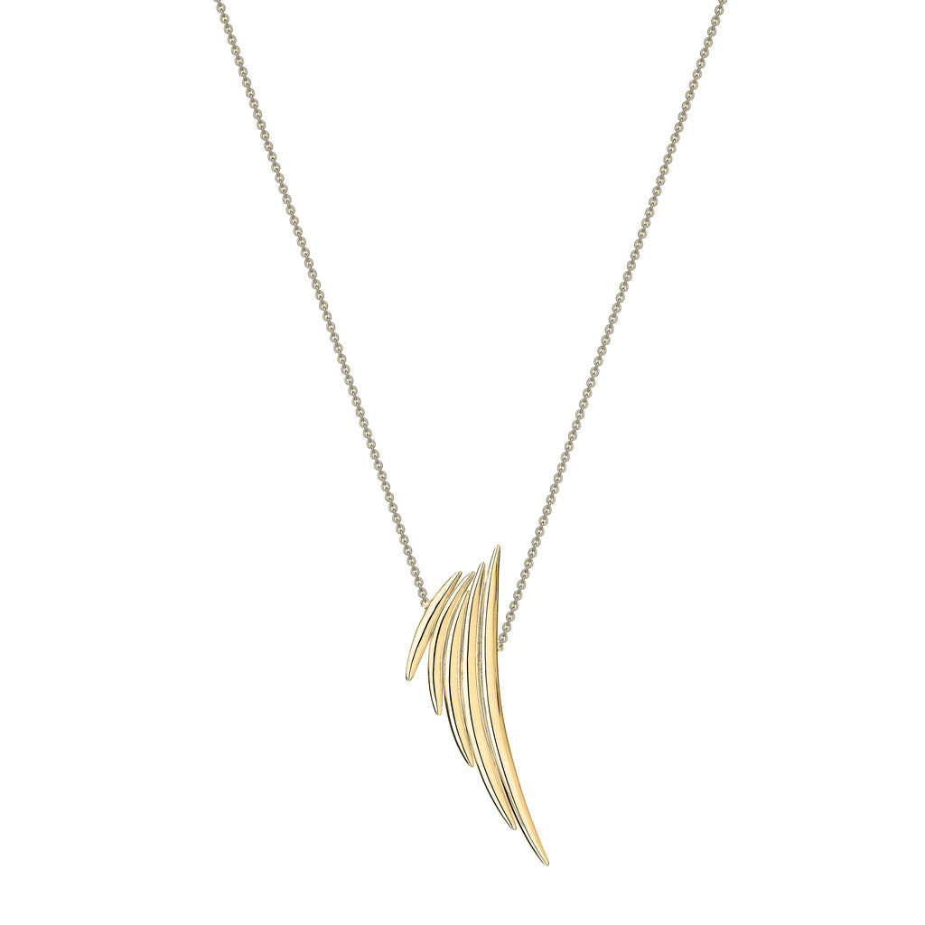 Yellow Gold Vermeil Quill Drop Pendant