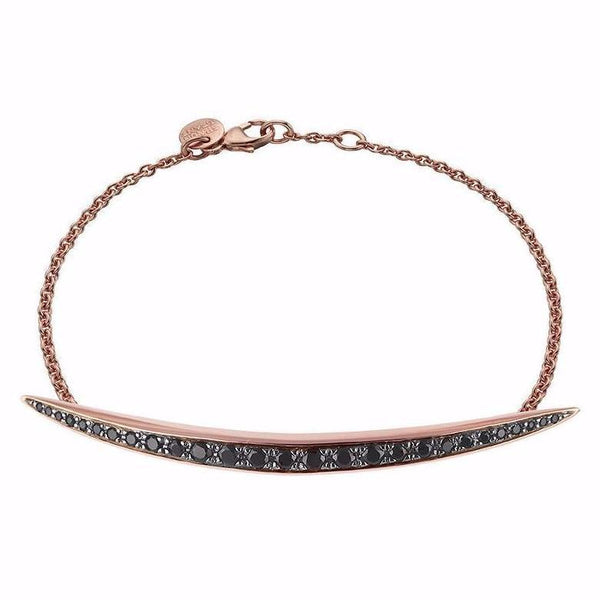 Rose Gold Vermeil Quill Black Spinel Bracelet