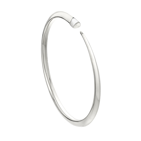 Silver Slim Tusk Bangle