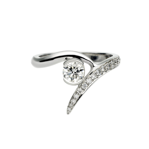 Platinum 0.50ct Diamond Outward Entwined Engagement Ring