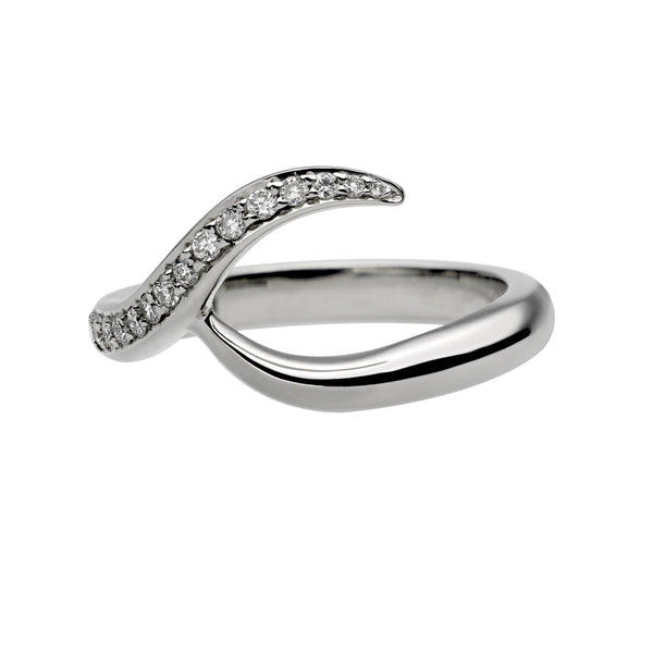 Platinum 0.35ct Diamond Inward Entwined Wedding Ring
