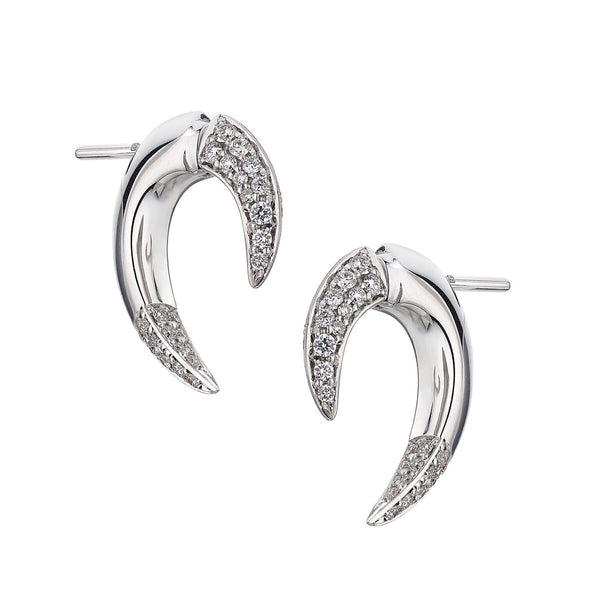 18ct White Gold Diamond Talon Earrings