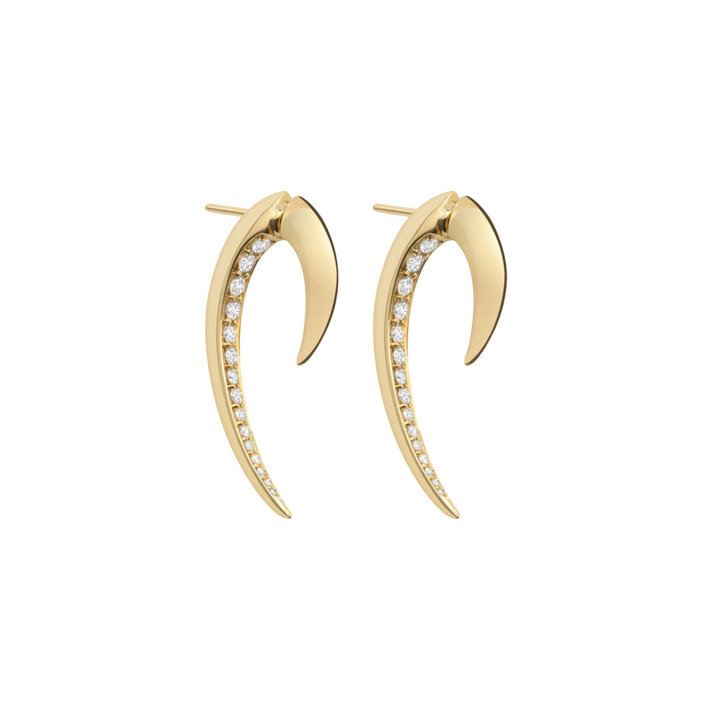 18ct Yellow Gold And Diamond Hook Earrings