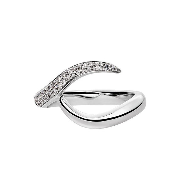 Platinum 0.75ct Diamond Inward Entwined Wedding Ring