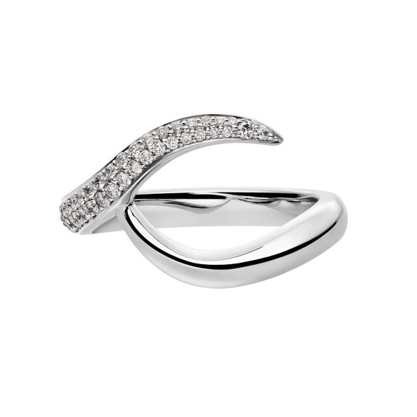18ct White Gold 0.75ct Diamond Inward Entwined Wedding Ring