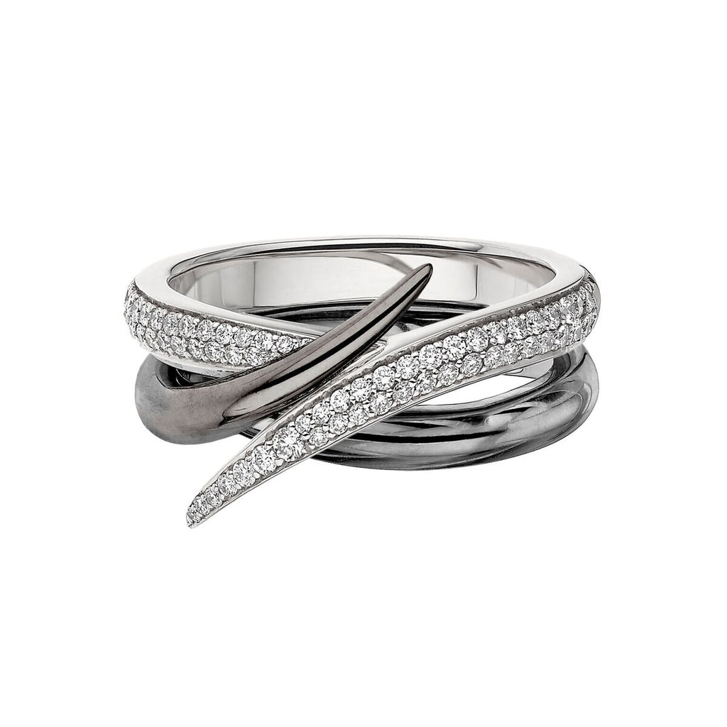 White Diamond and Black Rhodium Interlocking Duo