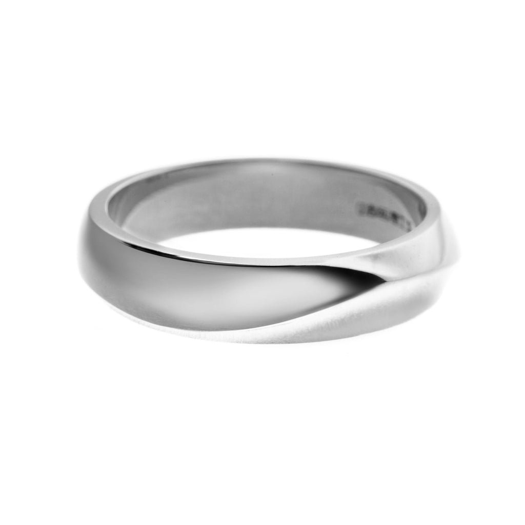 Platinum Wide Vine Entwined Wedding Ring