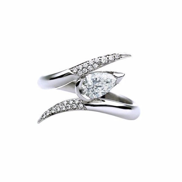 18ct White Gold 0.50ct Diamond Ariana Entwined Engagement Ring