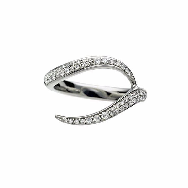 18ct White Gold 0.75ct Diamond Ariana Entwined Wedding Ring