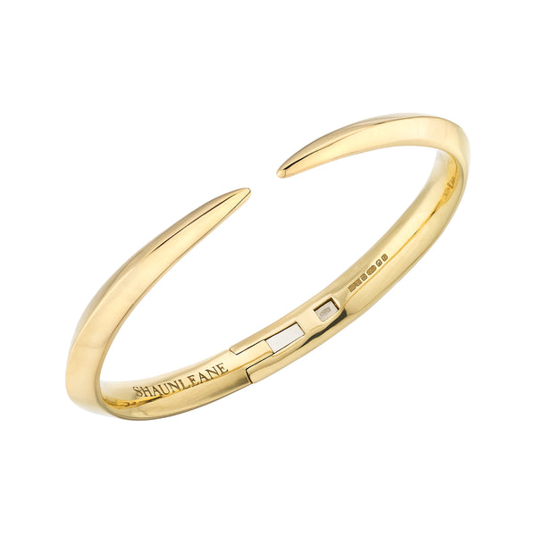 18ct Yellow Gold Medium Sabre Bangle