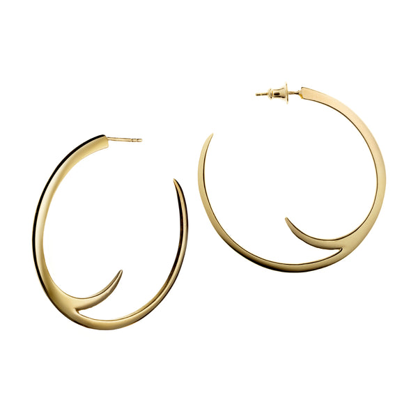 Yellow Gold Vermeil Cat Claw Large Hoop Earrings