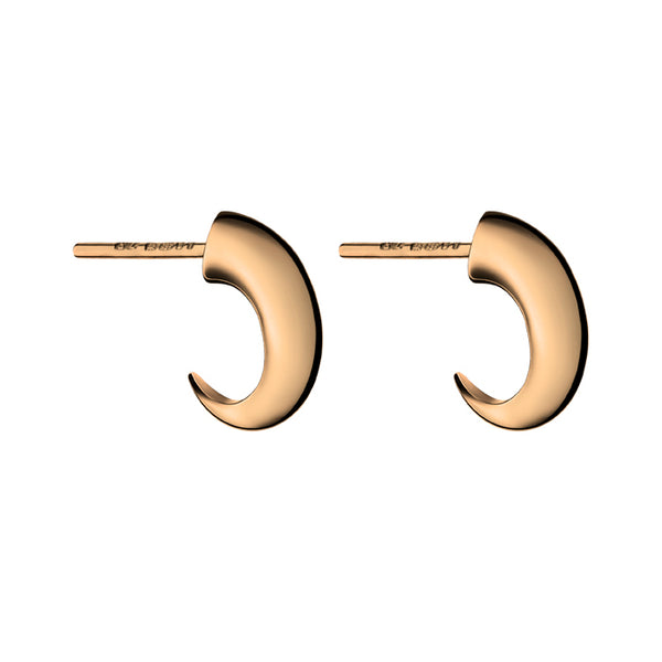 Rose Gold Vermeil Cat Claw Hoop Earrings
