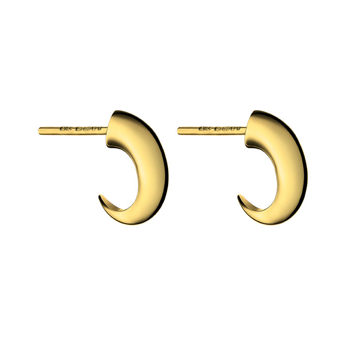 Yellow Gold Vermeil Cat Claw Hoop Earrings
