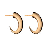 Rose Gold Vermeil Cat Claw Medium Hoop Earrings