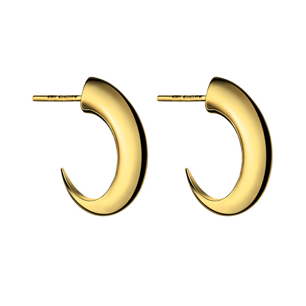 Yellow Gold Vermeil Cat Claw Medium Hoop Earrings