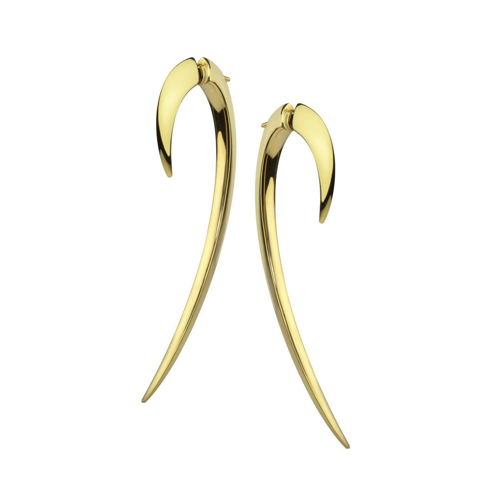18ct Yellow Gold Large Hook Earrings