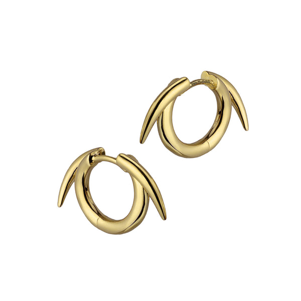 Yellow Gold Vermeil Thorn Hoop Earrings