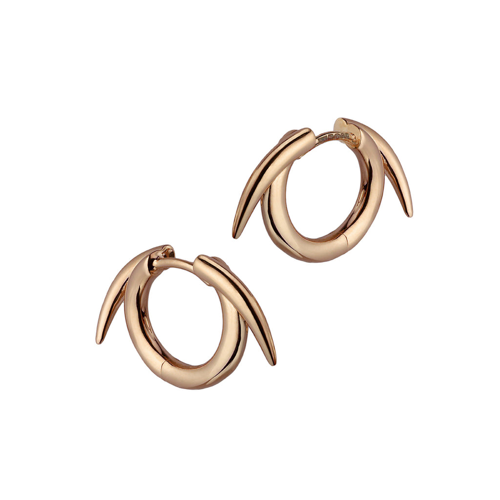 Rose Gold Vermeil Thorn Hoop Earrings