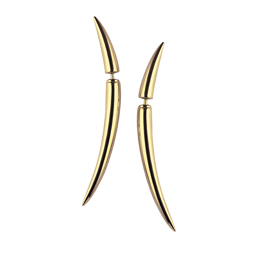 Yellow Gold Vermeil Quill Earrings