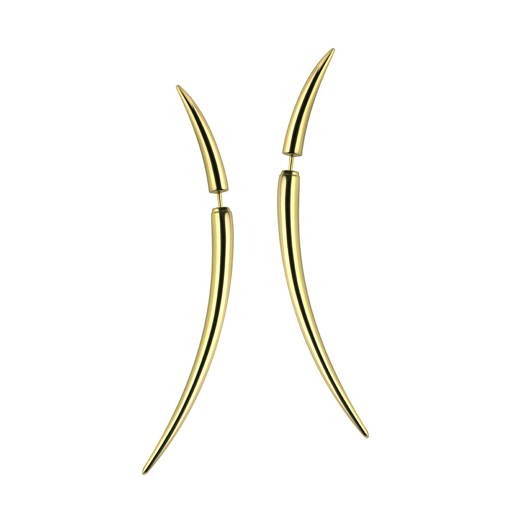 Yellow Gold Vermeil Quill Large Earrings