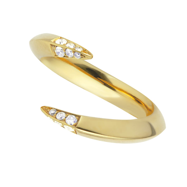 Yellow Gold Vermeil Diamond Open Ring