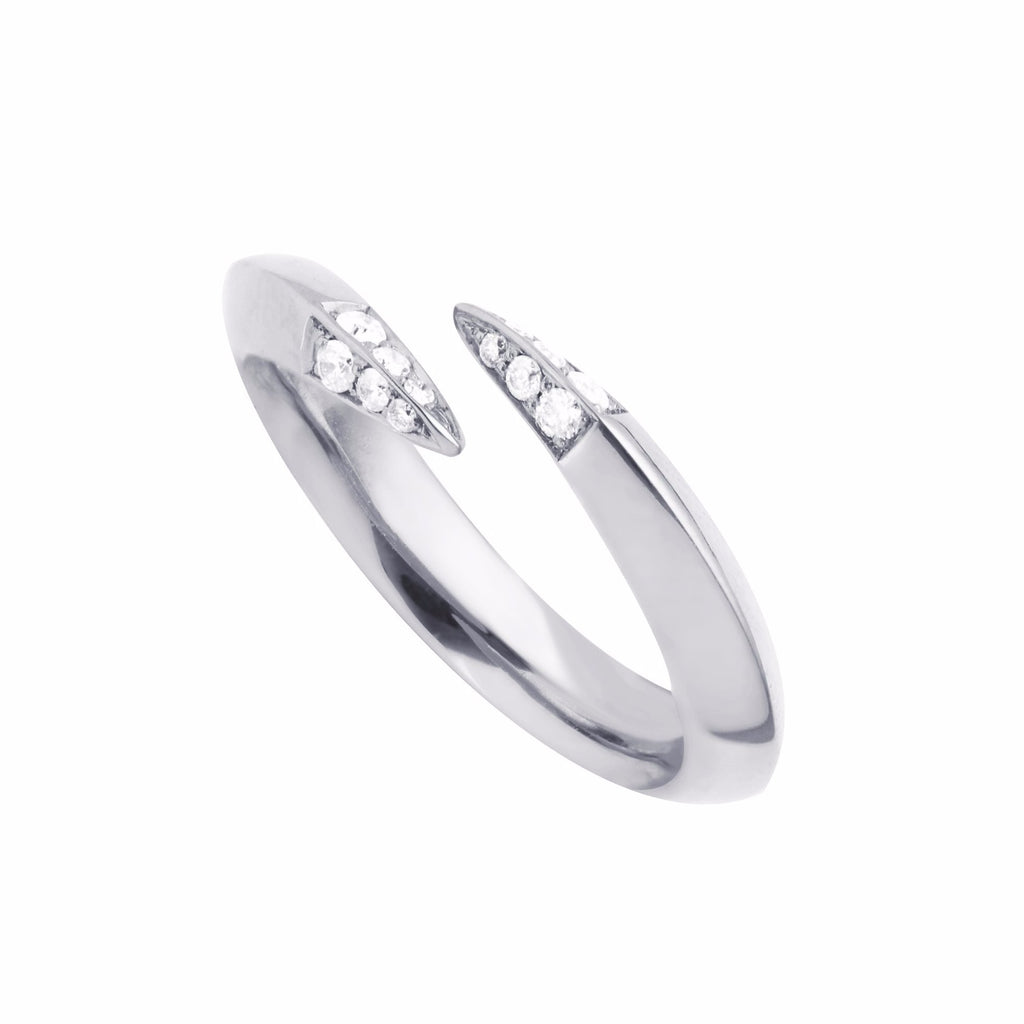 Silver and Diamond<br>Signature Wrap Ring
