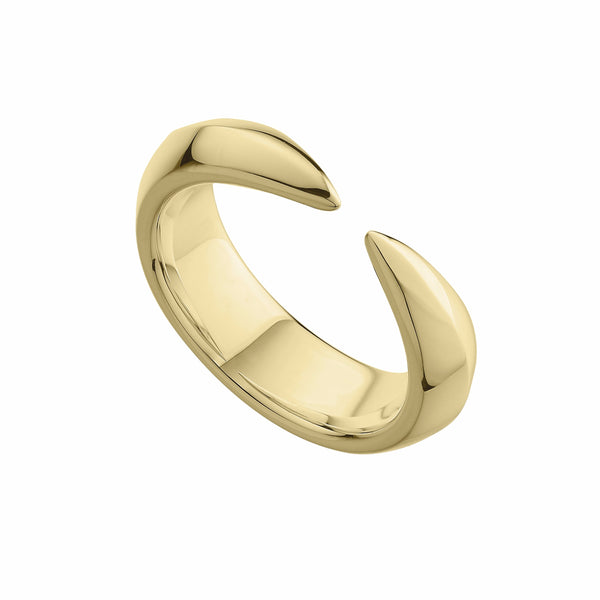 Silver Gold Plate Arc Ring