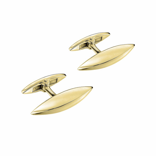 Silver Gold Plate Arc Cufflinks