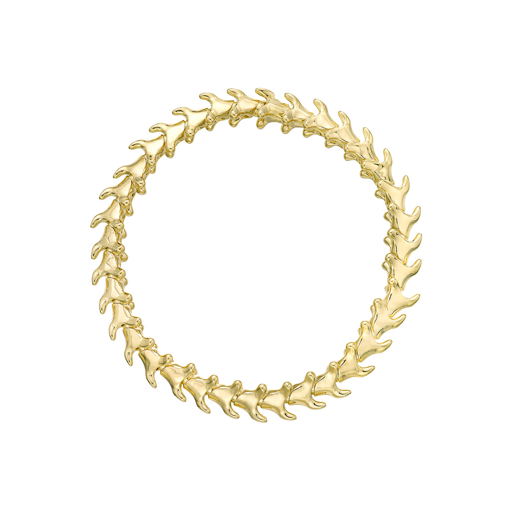Serpent Trace Yellow Gold Vermeil Slim Bracelet