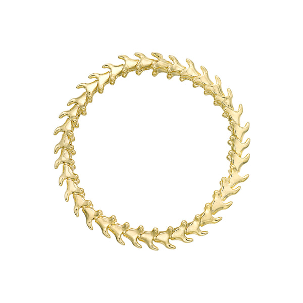 Yellow Gold Vermeil Serpents Trace Slim Bracelet