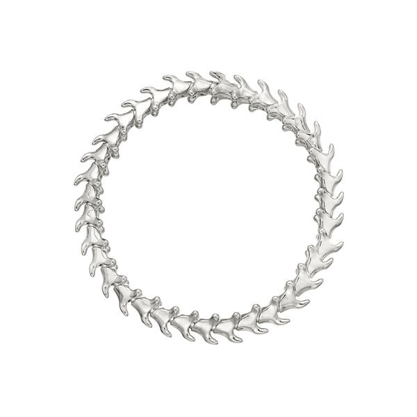 Silver Serpents Trace Slim Bracelet
